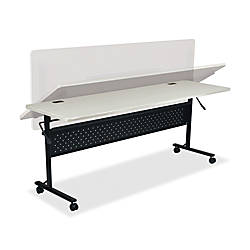Lorell Rectangular Flipper Training Table Silver