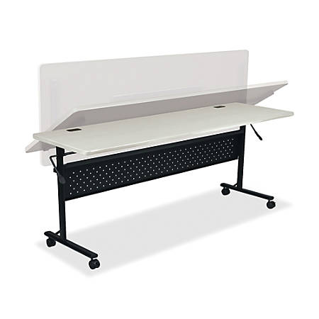 "Lorell® Shift Series Mobile Flipper Training Table, 72""W, Light Gray"
