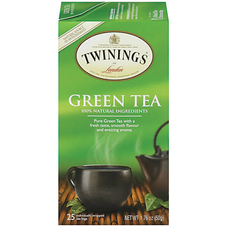 Twinings Green Tea, 2 Oz, Pack Of 25