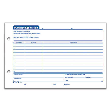 office depot brand purchase requisition forms 5 12 x 8 12 pack of 100 by office depot officemax. Black Bedroom Furniture Sets. Home Design Ideas