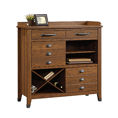 "Sauder Carson Forge Sideboard, 40 1/2""H x 40 3/4""W x 16 5/8""D, Washington Cherry"