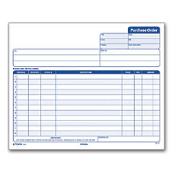 Office Depot Brand Purchase Order Forms   X    Part