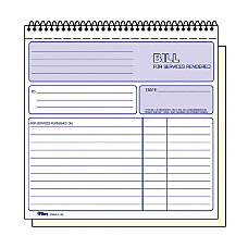 TOPS 2 part Carbonless Wirebound Invoice