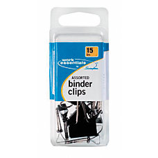 Swingline Binder Clips Assorted Sizes Black