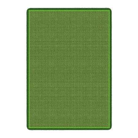 """Flagship Carpets All Over Weave Area Rug, 6' x 8' 4"""", Green"""