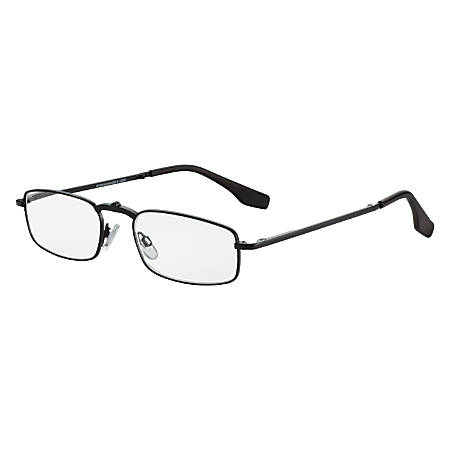 Dr. Dean Edell Folder Reading Glasses, Black, +2.50