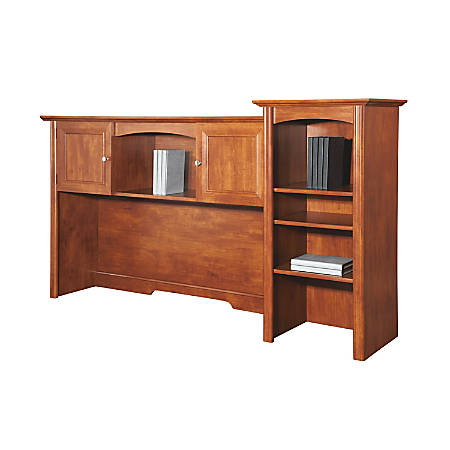 Realspace® Broadstreet Hutch With Doors, Maple