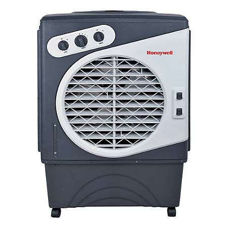 Honeywell CO60PM Portable Air Cooler - Cooler - 850 Sq. ft. Coverage - Remote Control - Dark Gray, White