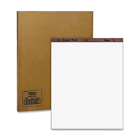 "TOPS® Plain Paper Easel Pads, 27"" x 34"", 50 Sheets, Carton Of 4"