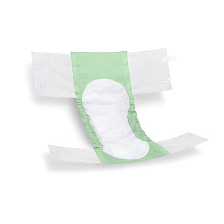 FitRight Extra Disposable Briefs, XX-Large, Green/White, Bag Of 20 Briefs