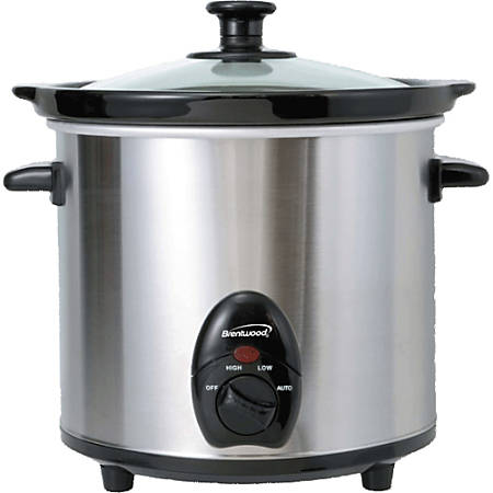 Brentwood SC-130S Slow Cooker - 3 quart - Stainless Steel