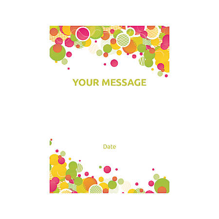 Flat Photo Greeting Card, Abstract Solid Circles, Vertical
