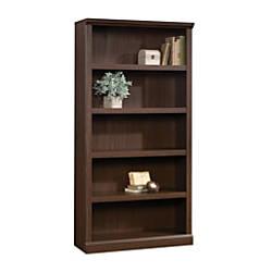 Realspace Premium Bookcase 5 Shelf Mocha