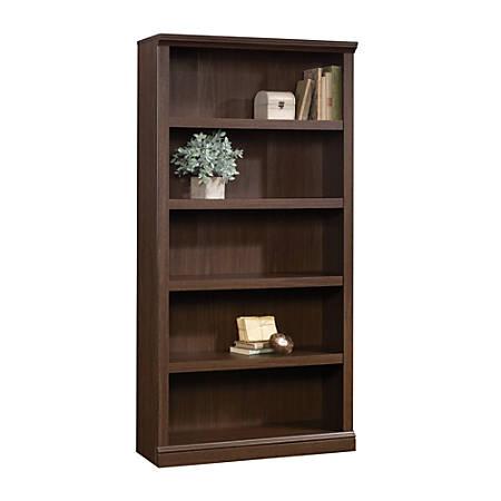 "Realspace® Premium 70""H 5-Shelf Bookcase, Mocha"