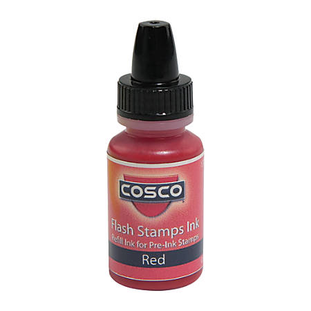 Pre-inked Stamp Re-Inking Fluid, 10 cc, Red