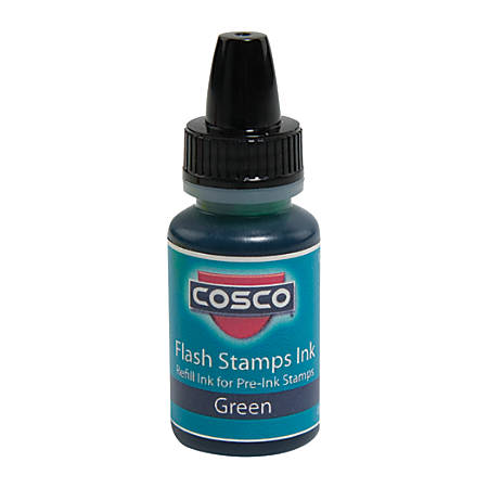 Pre-inked Stamp Re-Inking Fluid, 10 cc, Green