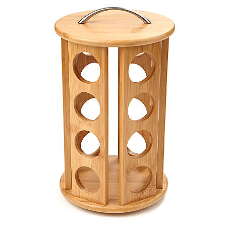 "Mind Reader Bamboo K- Cup® Pod Carousel, 10 1/2""H x 6 1/2""W x 6 1/2""D, Brown"