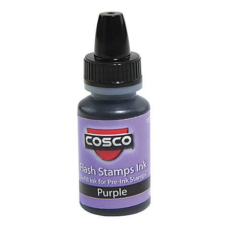 Pre-inked Stamp Re-Inking Fluid, 10 cc, Violet