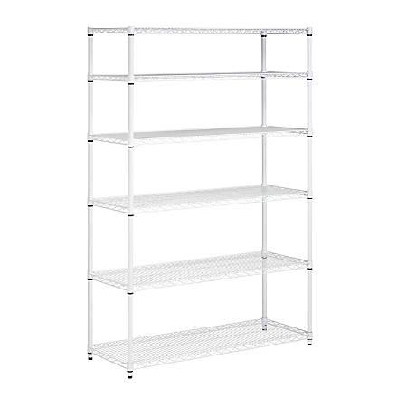 Honey-Can-Do NSF Steel Adjustable Storage Shelving Unit, White