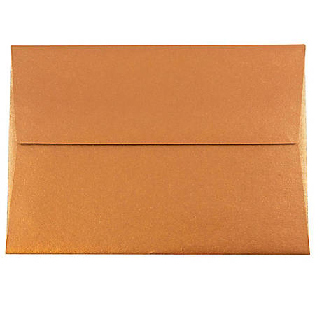 """JAM Paper® Envelopes With Moisture Seal Closure, #4 Bar (A1), 3 5/8"""" x 5 1/8"""", Copper, Pack Of 25"""