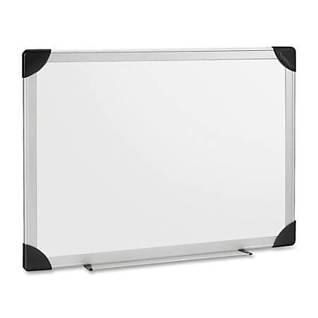 "Lorell® Dry-Erase Board, 96"" x 48"", White, Silver Aluminum Frame"