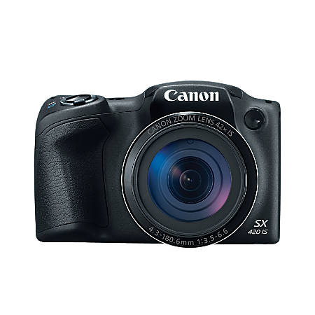 Canon PowerShot SX420 IS 20-Megapixel Digital Camera, Black