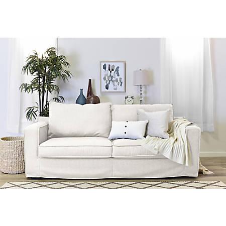 """Serta® Colton 85"""" Sofa With Slipcover, Cream"""
