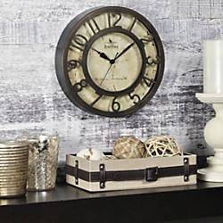 FirsTime Raised Number Wall Clock 8