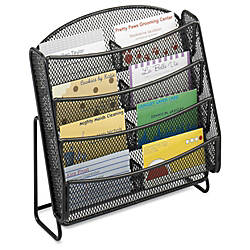 Safco Steel Mesh 8 Compartment Business