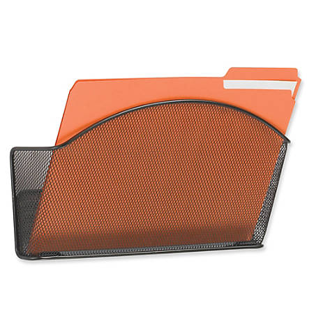 """Safco® Onyx Mesh Wall Pocket, Letter Size, 9""""H x 12""""W x 3""""D, Black"""