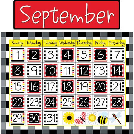 Barker Creek Calendar Set, Buffalo Plaid, Happy, Grades Pre-K - 9