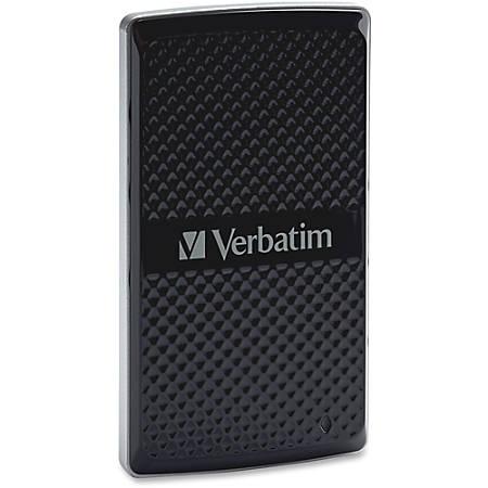 Verbatim 128GB Vx450 External SSD, USB 3.0 with mSATA Interface - Black