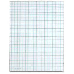 TOPS White Quadrille Pads Letter 50