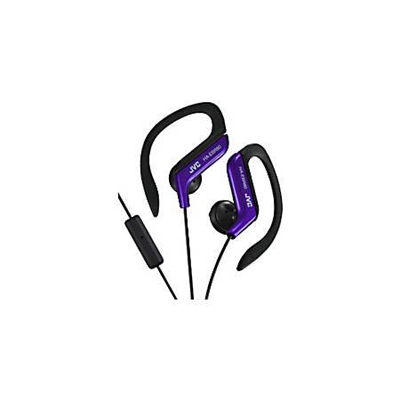 JVC® Sports Ear Clip Headphones With Microphone, Black/Blue