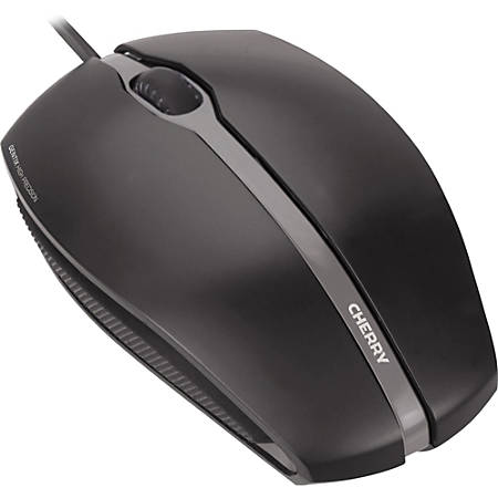 CHERRY GENTIX Corded Optical Illuminated Mouse - Optical - Cable - Black - 1 Pack - USB - 1000 dpi - Scroll Wheel - 3 Button(s) - Symmetrical