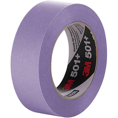 "3M™ 501+ Masking Tape, 3"" Core, 1"" x 180', Purple, Case Of 12"
