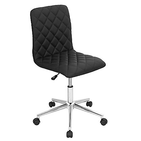 Lumisource Caviar Chair, Black/Chrome