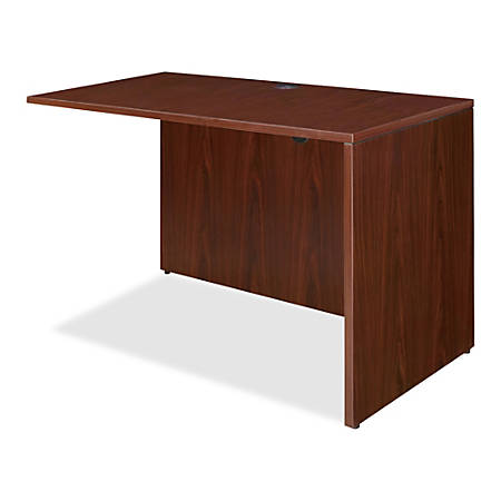 "Lorell® Essentials Series Reverse Return Shell, 36""W, Mahogany"