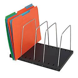 STEELMASTER Adjustable Wire Organizer Black