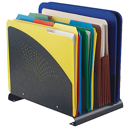 STEELMASTER® 4-Slot Contemporary Steel Organizer, Granite