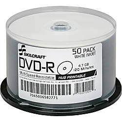SKILCRAFT Inkjet Printable DVD R Recordable