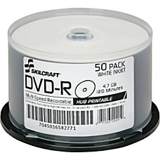 SKILCRAFT Inkjet Printable DVD R Recordable