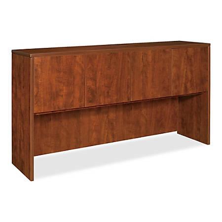 "Lorell® Essentials Series Hutch, 66""W, Cherry"