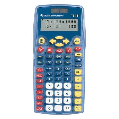 Texas Instruments® TI-15 Calculator, Blue Item # 568825