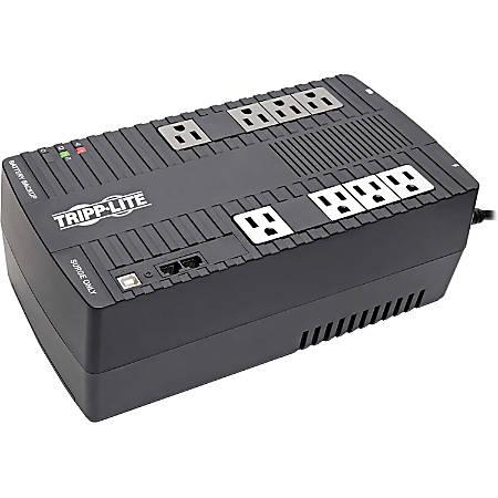 Tripp Lite UPS 650VA 325W Desktop Battery Back Up AVR Compact 120V USB Muted Alarm - Wall/Desktop/Floor Mountable - 12 Hour Recharge - 2.50 Minute Stand-by - 115 V AC, 120 V AC Input - 8 x NEMA 5-15R