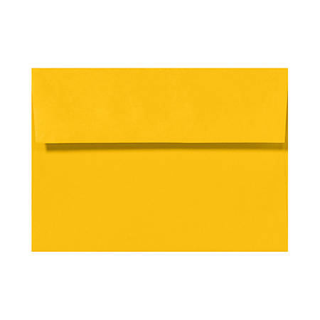 "LUX Invitation Envelopes With Peel & Press Closure, A7, 5 1/4"" x 7 1/4"", Sunflower Yellow, Pack Of 1,000"