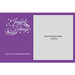Flat Photo Greeting Card Joyful Tidings