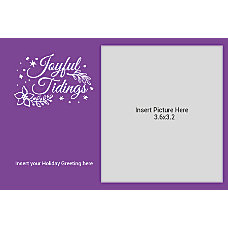 Photo Greeting Card Joyful Tidings Purple