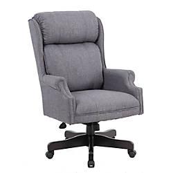 Boss Linen High Back Chair Slate