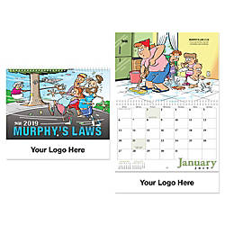 Murphys Law Spiral Wall Calendar